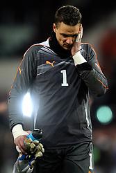 09-02-2011 VOETBAL: NEDERLAND - OOSTENRIJK: EINDHOVEN<br /> Netherlands in a friendly match with Austria won 3-1 / Jurgen Macho AUT<br /> ©2011-WWW.FOTOHOOGENDOORN.NL