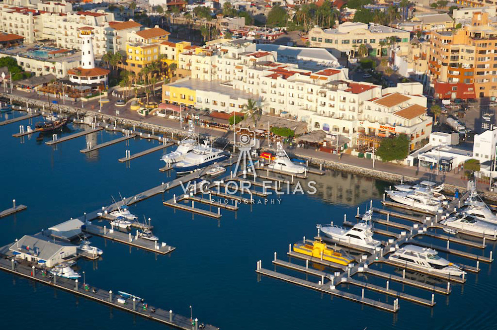 Aerial view of Cabo San Lucas Marina. Cabo San Lucas, BCS. Mexico.