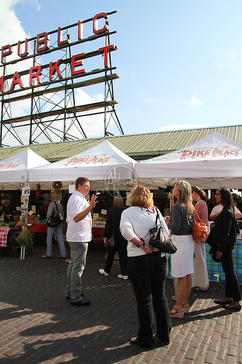 "Seattle Met ""Savor an Evening"" with Bastille Cafe's Chef Stoneburner at Pike Market."