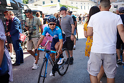 Paula Patino Bedoya (COL) makes her way through the crowds before Stage 10 of 2019 Giro Rosa Iccrea, a 120 km road race from San Vito al Tagliamento to Udine, Italy on July 14, 2019. Photo by Sean Robinson/velofocus.com