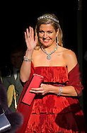 Amsterdam, 29-04-2013 <br /> <br /> Queen Beatrix , Prince Willem-Alexander and Princess Maxima leave the Royal Palace on their way to a dinner at the Rijksmuseum together with other members of the Royal Family<br /> <br /> Photo: Bernard Rubsamen/Royalportraits Europe
