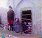 What Russian Empire Looked Like Before 1917… In Colour<br /> <br /> <br /> The Sergei Mikhailovich Prokudin-Gorskii Collection features colour photographic surveys of the vast Russian Empire made between ca. 1905 and 1915. Frequent subjects among the 2,607 distinct images include people, religious architecture, historic sites, industry and agriculture, public works construction, scenes along water and railway transportation routes, and views of villages and cities. An active photographer and scientist, Prokudin-Gorskii (1863-1944) undertook most of his ambitious colour documentary project from 1909 to 1915. <br /> <br /> Photo Shows; Zindan prison, with inmates looking out through the bars and a guard with Russian rifle, uniform, and boots, Central Asia. (between 1905 and 1915)<br /> ©Library of Congress/Prokudin-Gorskii/Exclusivepix Media