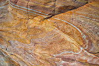 Banded rock outcrop at the Valley of Fire State Park in Nevada.