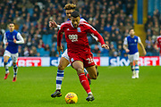 Birmingham City Midfielder David Davis holds back Sheffield Wednesday Defender Liam Palmer during the EFL Sky Bet Championship match between Sheffield Wednesday and Birmingham City at Hillsborough, Sheffield, England on 3 February 2018. Picture by Craig Zadoroznyj.