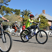 Bicyclists on the closed course of the 2013 Ride On, Tucson. Bike-tography by Martha Retallick.