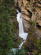 Lower Falls along Johnston Creek, Johnston Canyon; Banff National Park, Alberta, Canada.