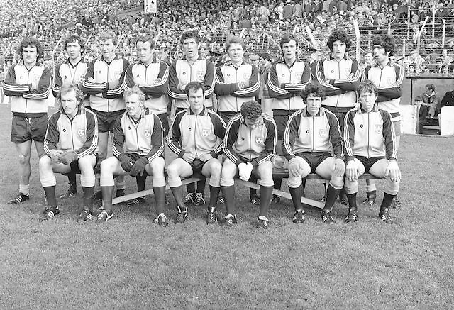The Dublin team before the All Ireland Gaelic Football Final Dublin v Armagh in Croke Park on the 25th September 1977.