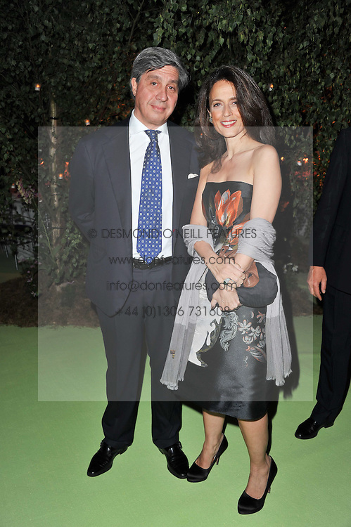 MR & MRS ANTOINE CHENEVIERE at a dinner hosted by Cartier in celebration of the Chelsea Flower Show held at Battersea Power Station, 188 Kirtling Street, London SW8 on 23rd May 2011.
