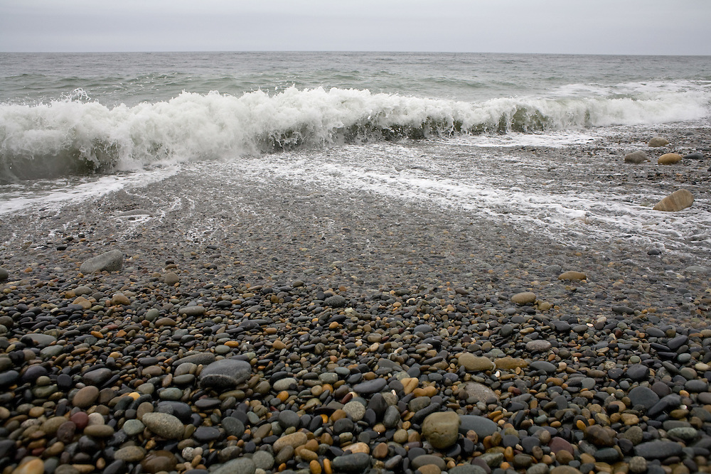 Naikoon Provincial Park, Agate Beach, Tow Hill on a stormy spring day, Queen Charlotte Islands, Haida Gwaii