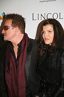 Bono and  Ali Hewson at the Lincoln film premiere Savoy Cinema in Dublin, Ireland. Sunday 20th January 2013.