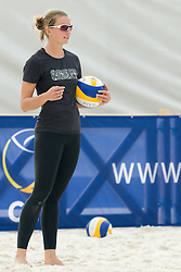 Holtwick Katrin of Germany at practice 1 day before CEV European Continental Beach Volleyball Cup for Olympic Qualification, on September 3, 2010, in Zrece, Slovenia. (Photo by Matic Klansek Velej / Sportida)