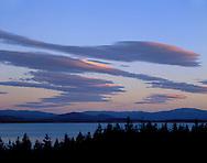 Lake Pukaki, near Mount Cook and a beautiful sky of clouds. south island, new zealand.1999