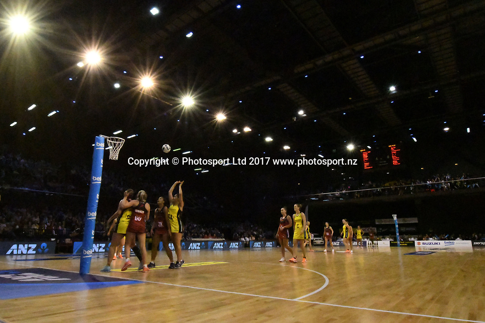 General View of the TSB Arena during the ANZ Premiership Netball match between Central Pulse v Mainland Tactix, TSB Arena, Sunday 09th April 2017. Copyright Photo: Raghavan Venugopal / www.photosport.nz