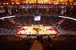 17 February 2016:  Redbird Arena and Doug Collins Court before the Illinois State Redbirds v Indiana State Sycamores at Redbird Arena in Normal Illinois (Photo by Alan Look)