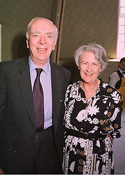 MR & MRS BUFF CRISP, he is  secretary of the Hurlingham Polo Association the sports governing body, at a reception in London on 20th May 1998.MHU 4
