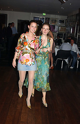 Left to right, ISOBEL BUCHANAN-JARDINE and LADY SYBILLA RUFUS-ISAACS at a night of Cuban Cocktails and Cabaret hosted by Edward Taylor and Charles Beamish at Floridita, 100 Wardour Street, London W1 on 14th April 2005.<br />