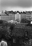 Hus längs Lundagatan och på Yttersta Tvärgränd