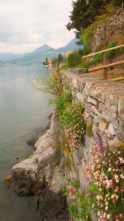 The gardens of Villa Monastero, Varenna, Italy, on Lake Como.