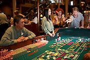 Craps table.Las Vegas, Nevada.MODEL RELEASED
