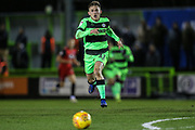 Forest Green Rovers George Williams(11) chases down the ball during the EFL Sky Bet League 2 match between Forest Green Rovers and Grimsby Town FC at the New Lawn, Forest Green, United Kingdom on 22 January 2019.