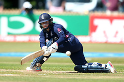 Tammy Beaumont of England Women plays a sweep shot - Mandatory by-line: Robbie Stephenson/JMP - 12/07/2017 - CRICKET - The County Ground Derby - Derby, United Kingdom - England v New Zealand - ICC Women's World Cup match 21