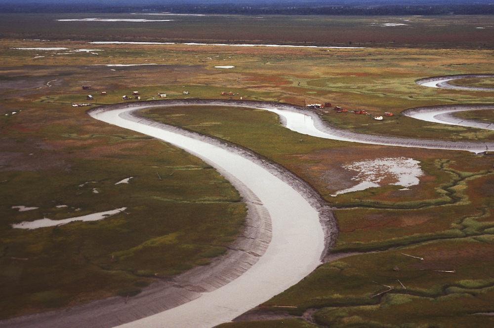 Costal Flats along Crook Inlet, Alaska, USA
