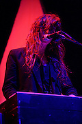 Beach House performing at the Chaifetz Arena on October 3, 2010