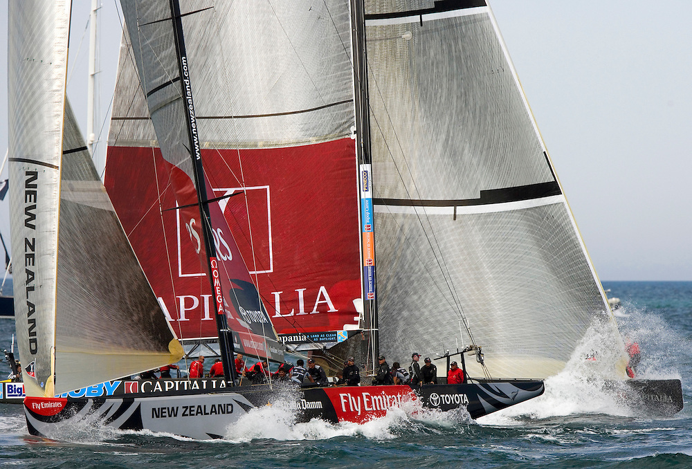 30/04/07 Louis Vuitton Cup 2007 Valencia, Spain, Round Robin 2, Flight 1.Mascalzone Latino-Capitalia Team (ITA) v Emirates Team New Zealand (NZL)