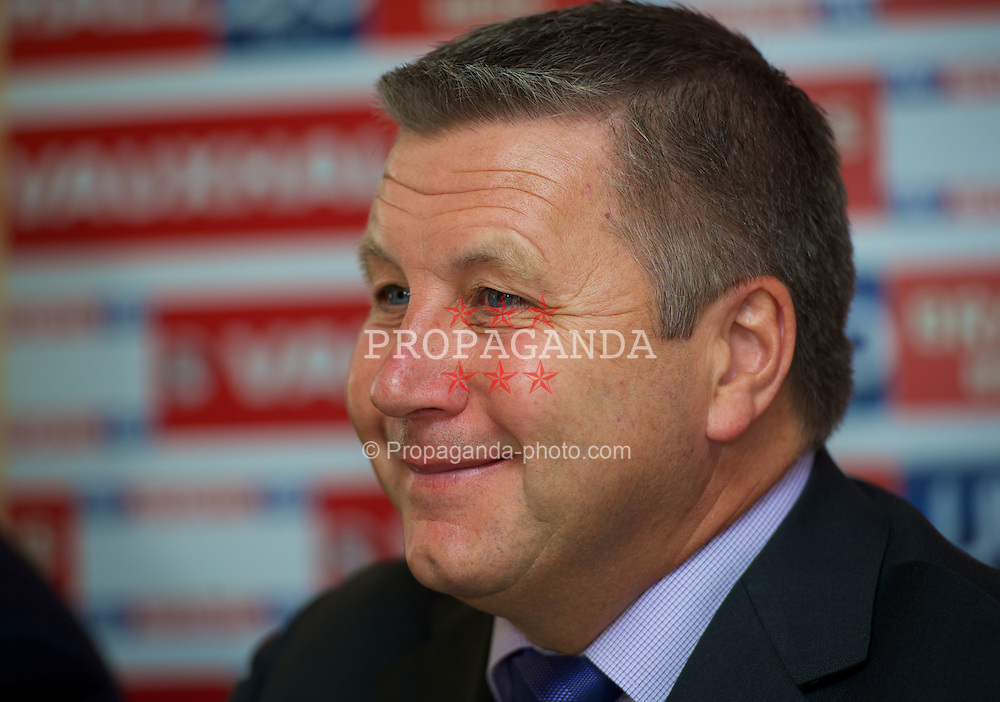 CARDIFF, WALES -.Tuesday, July 10, 2012: Wales announce Geraint Williams as the new Indermediate Team Manager during a press conference at the Village Hotel. (Pic by David Rawcliffe/Propaganda)