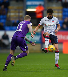 Jason Lowe of Bolton Wanderers (R) in action - Mandatory by-line: Jack Phillips/JMP - 29/12/2018 - FOOTBALL - University of Bolton Stadium - Bolton, England - Bolton Wanderers v Stoke City - English Football League Championship