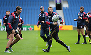 during the USA Captain's Run in preparation for the Rugby World Cup at the American Express Community Stadium, Brighton and Hove, England on 18 September 2015.
