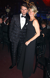 LADY BRUCE DUNDAS and COUNT MANFREDIE DELLA GHERARDESCA at the Russian Rhapsody Gala dinner concert held at The Royal Albert Hall, London on 11th April 2005.  <br />