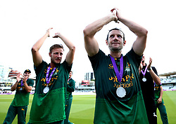 Chris Read of Nottinghamshire celebrates winning the Royal London One Day Cup after his side beat Surrey - Mandatory by-line: Robbie Stephenson/JMP - 01/07/2017 - CRICKET - Lord's Cricket Ground - London, United Kingdom - Nottinghamshire v Surrey - Royal London One-Day Cup Final 2017