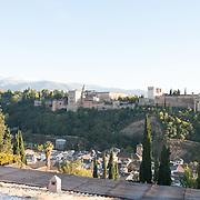 La Alhambra from Mirador de San Nicolas. Grenada, Spain.