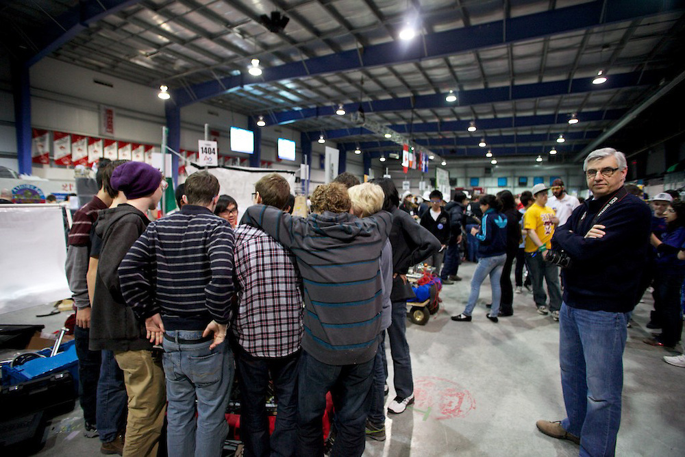 High Schools from Canada, the United States and one school from Mexico compete in the 2011 Toronto FIRST Robotics Regional competition in Missisauga, Ontario on March 31st, April 1st and 2nd 2011. The competition brings together high school students and adult mentors from a variety of field. From year to year a game featuring robots built from scratch by students under the guidance of adult mentors promotes science, computer, mechanical and material engineering as well as cooperation and teamwork.