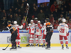 13.12.2016, Merkur Eisarena, Graz, AUT, EBEL, Moser Medical Graz 99ers vs EC KAC, 30. Runde, im Bild von links Oliver Setzinger (#91, Moser Medical Graz 99ers), Johannes Bischofberger (#46, EC KAC), Marco Brucker (#89, EC KAC), Mitja Robar (#55, EC KAC), Robin Weihager (#7, Moser Medical Graz 99ers) und Martin Schumnig (#28, EC KAC) // during the Erste Bank Icehockey League 30th Round match between Moser Medical Graz 99ers and EC KAC at the Merkur Ice Arena, Graz, Austria on 2016/12/13, EXPA Pictures © 2016, PhotoCredit: EXPA/ Erwin Scheriau