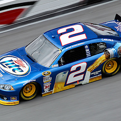April 16, 2011; Talladega, AL, USA; NASCAR Sprint Cup Series driver Brad Keselowski (2) during qualifying for the Aarons 499 at Talladega Superspeedway.   Mandatory Credit: Derick E. Hingle