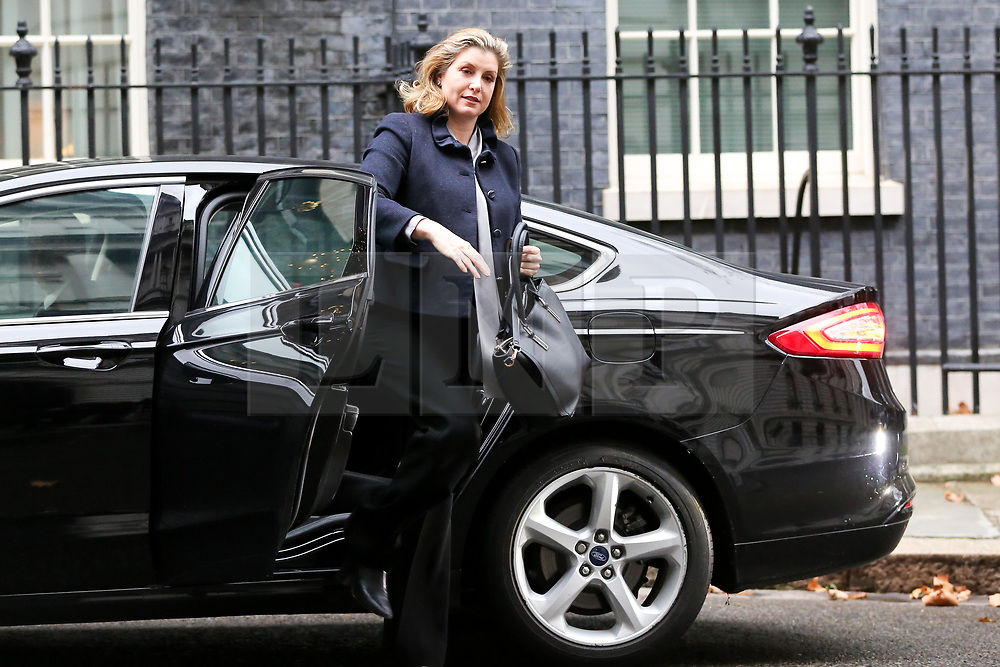 "© Licensed to London News Pictures. 18/12/2018. London, UK. Penny Mordaunt - Secretary of State for International Development and Equalities Minister arrives in Downing Street for the weekly Cabinet meeting. The Cabinet will discuss the preparations for a ""No Deal"" Brexit. Photo credit: Dinendra Haria/LNP"