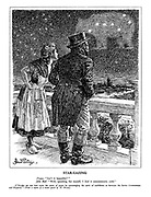 "Star-Gazing. France. ""Isn't it beautiful?"" John Bull. ""Well, speaking for myself, I find it uncommonly cold."" M. Blum.]"