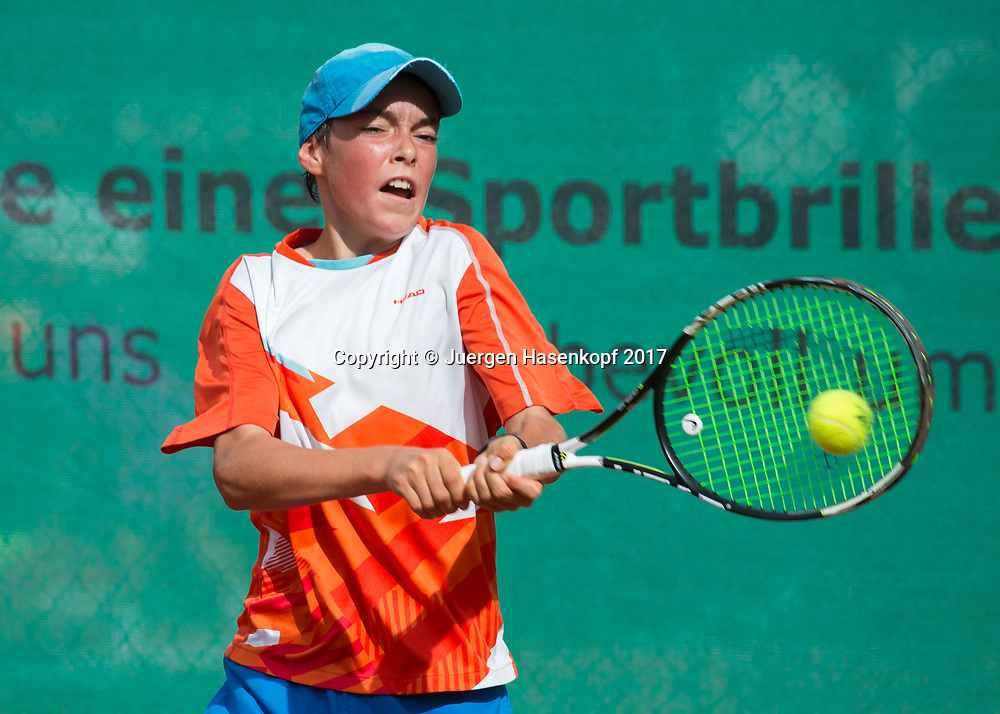 MAXIMILIAN HOMBERG (GER), Bavarian Junior Open 2017, Tennis Europe Junior Tour, BS14<br /> <br /> Tennis - Bavarian Junior Open 2017 - Tennis Europe Junior Tour -  SC Eching - Eching - Bayern - Germany  - 9 August 2017. <br /> &copy; Juergen Hasenkopf