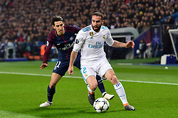 March 6, 2018 - Paris, U.S. - DI MARIA Angel (PSG) vs Dani Carvajal (Real Madrid)  during the Champions League match Real Madrid at Paris Saint-Germain on March 6, 2018 in Paris, France. (Photo by JB Autissier/Panoramic/Icon Sportswire) ****NO AGENTS---NORTH AND SOUTH AMERICA SALES ONLY****NO AGENTS---NORTH AND SOUTH AMERICA SALES ONLY* (Credit Image: © Jb Autissier/Icon SMI via ZUMA Press)