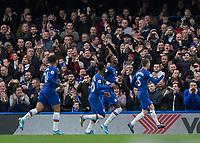 Football - 2019 / 2020 Premier League - Chelsea vs. Burnley<br /> <br /> Jorginho(Chelsea FC) celebrates after scoring  at Stamford Bridge <br /> <br /> COLORSPORT/DANIEL BEARHAM