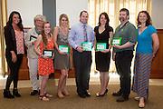 Award recipients at the inaugural Earth Day awards ceremony sponsored by Ohio University's Office of Sustainability.  Photo by Ohio University / Jonathan Adams