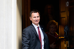 © Licensed to London News Pictures. 16/01/2018. London, UK. Health and Social Care Secretary Jeremy Hunt leaving Downing Street after attending a Cabinet meeting this morning. Photo credit : Tom Nicholson/LNP
