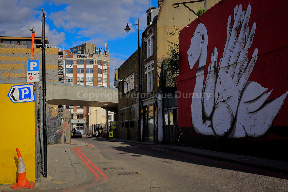 Shoreditch, a district in the East End of London, within the London Borough of Hackney, England // Shoreditch, Londres, Angleterre