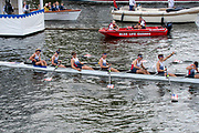 Henley on Thames, England, United Kingdom, Sunday, 07.07.19, United States Armed Forces, U.S.A. celebrate after winning the Final of the King's Cup, beating <br /> Bundeswehr, Germany, Henley Royal Regatta,  Henley Reach, [©Karon PHILLIPS/Intersport Images]<br /> <br /> 15:07:12 1919 - 2019, Royal Henley Peace Regatta Centenary,