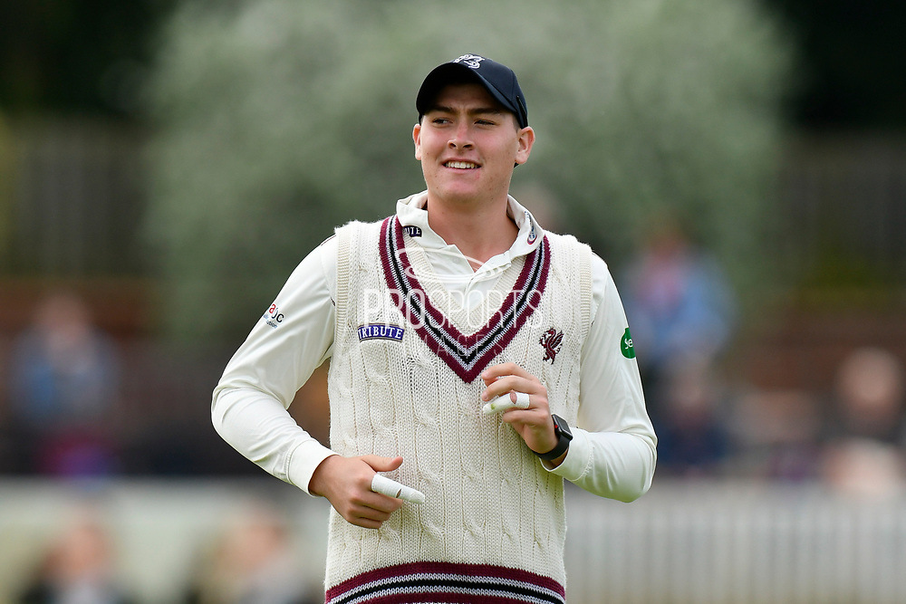 Matt Renshaw of Somerset during the Specsavers County Champ Div 1 match between Somerset County Cricket Club and Worcestershire County Cricket Club at the Cooper Associates County Ground, Taunton, United Kingdom on 22 April 2018. Picture by Graham Hunt.