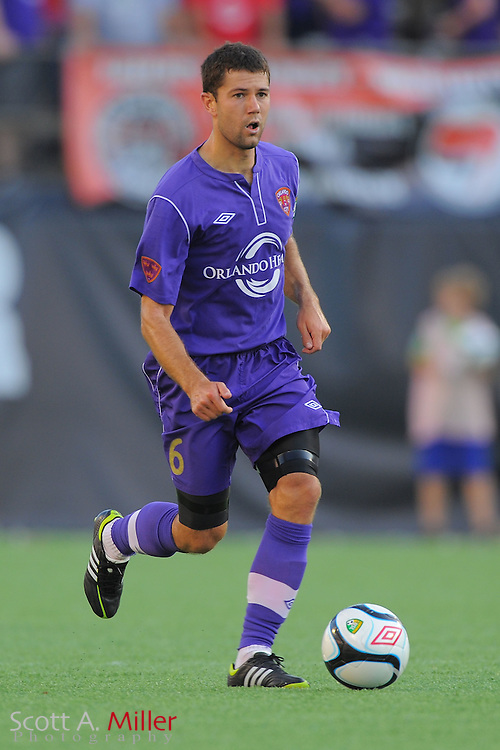 Orlando City midfielder Anthony Pulis (6) in action during City's game against the Wilmington Hammerheads at the Citrus Bowl on April 15, 2012 in Orlando, Fla. ..©2012 Scott A. Miller.