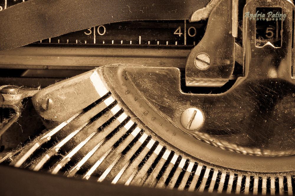 Close-up of Vintage Typewriter