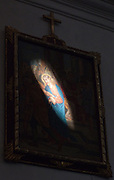 Light on a cathedral painting,
